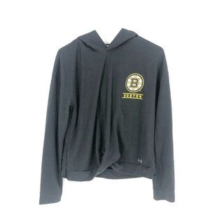 Under Armour Boston Bruins Tie Front Hoodie S